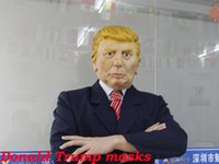 Wholesale USA President Candidate Mr Trump Latex mask Halloween Mask Latex Face Mask Billionaire Presidential Donald Trump Latex Mask price