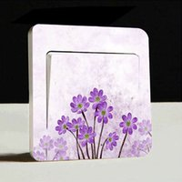 artistic wall decals - 1pc Flower Artistic Switch Cover Wall Stickers Light Decor Decals Art Mural