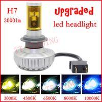 Wholesale vehicle H7 LED Head light car LED head lamp cree w lm H7 High power motorcycle head lights DC12 V