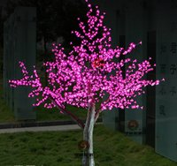 Wholesale 2m ft Height Outdoor Artificial Christmas Tree LED Cherry Blossom Tree Light LEDs Straight Tree Trunk LED Light Tre
