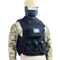 Wholesale Airsoft Paintball Molle Tactical Combat Assault Vest Wiht Molle bag Multicam