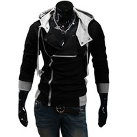 Wholesale 2016 Man s warm Hoodies Sweatshirt Oblique zipper hoodie colors cotton Hoody jacket plus size M XL slim sports hoodies men