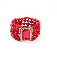 beaded rubies bracelet - Jewelry Multilayer Beaded Bracelet Ms Ruby Women Bracelet