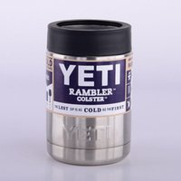 beer in cans - 2016 Hot Sale oz Stainless Steel Colster can Yeti Coolers Rambler Colster YETI Cups Cars Beer Mug Insulated Koozie oz in Stock