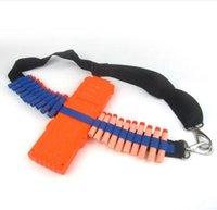 Wholesale EVA Bullet Strap Toy Gun Soft Belt Shoulder Strap Clip Charger Darts Ammo Storage For Nerf N Strike Blasters Cartridge Holder TOPAA1293