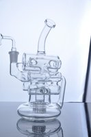 arm cylinder - 14 mm joint clear cylinder Bongs glass with arm real photo bongs water pipe two function with recycler oil rig herb bowl
