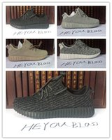Wholesale YZY Mens shoes pirate Black Boost Men s Fashion Casual Sneaker boosts Moonrock running West women turtle dove Oxford Tan white