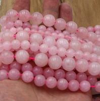 al por mayor 6mm brazalete de cuentas de jade-16 '' de la piedra preciosa de Rose de la alta calidad espacian los granos flojos 4m m 6m m 8m m 10m m 12m m (collar de la pulsera)