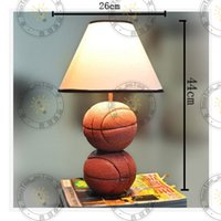 Wholesale 2016 HGHomeart Many good ideas that Lan European garden room lighting lamp bedside lamp children study basketball