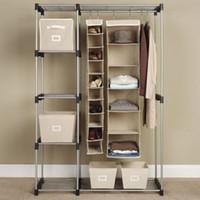 Wholesale Garment Shelf Rod Closet Organizer Storage Rack Portable Clothes Hanger