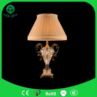 beige shade cloth - Crystal lamp high end European style living room atmosphere E27 lamp shade cloth