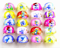 job lots - Brand New Kids Round Cartoon resin multicolor favor party jewelry rings job