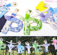 ballet supplies - Fashion Hot Ballet girls letter paper Flag banner girl Princess flags baby shower Adults party birthday supplies