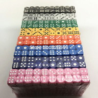 Wholesale colors mm Casino d6 Dice with standard dots drinking gambling club bar toys novelty cubes for entertainment Dice