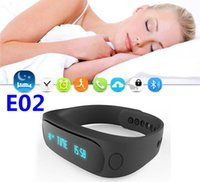 alarm caller - HOT E02 Sport bluetooth bracelet smart watch healthy Silicone Wristband Time Caller ID alarm Pedometer Sleep Monitor for IOS Android
