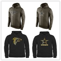 active america - Men s Cowboys Black Gold Collection Pullover Hoodie Cheap nice Falcons Olive Green America Football Pullover Sweatshirts