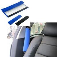 Wholesale High end Universal Car Safety Belt Protect Shoulder Pad Adjust Vehicle Seat Belt Shoulder Pad car styling black blue