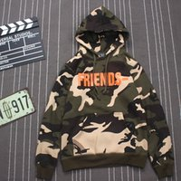 Wholesale 2017 Vlone Como Hoodie Men High Quality Camouflage Uniform Sweatshirts Military Printed Hoody Pullover Skateboards Vlone Hoodies