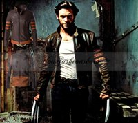 Wholesale HOT high end High quality X Men Wolverine Logans Jacket Top Coat PU Costume Cosplay Casual standing collar mans coats outwear L313