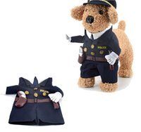Wholesale Dog Policeman Cosplay Costume Funny Pet Clothes Halloween Dog Costume Creative Gift Standing Clothes Cat Costume Pet Police