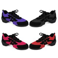 Wholesale 2016 Hot produce Adult dance sneakers black red rosy purple four colors Fashion style hight quality dance sneakers