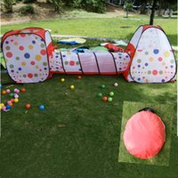 Wholesale 3 In Kids Tent Pipeline Crawling Huge Game Play House Baby Play Yard Ball Pool Outdoor Indoor Baby Playpen