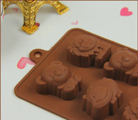 animal shaped cake pans - 2016 animal shape Muffin case Candy Jelly Ice cake Silicone Mould Mold Baking Pan Tray free shopping