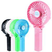Wholesale Hand Held V Mini USB Fan Outdoor Portable Rechargeable mAh Battery Handgrip Fan Hand Fan Desk Fan