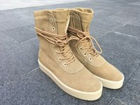 apricot season - Supply New Fashion Kanye Season Boots Sizes Top Quality Kanye Season Boots Sneaker Apricot Color Shiped With Box