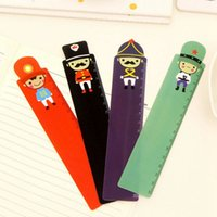 Wholesale Creative Cartoon England private Ruler bookmark straightedge Soldier print straight ruler styles school student teacher ruler CM