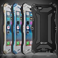 aluminum suit case - For Apple Iphone S Plus Plus Gorilla Glass Waterproof Shockproof Dirt Proof Cases Gundam Mobile Suit Aluminum Metal Cell Phone Case