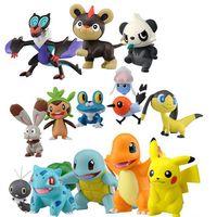 Wholesale 144pcs bag Poke Figures Toys cm Pikachu Charizard Eevee Bulbasaur Suicune PVC Mini Model Toys For Children Free DHL