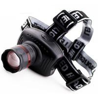 Wholesale New Arrival w Led Headlamp Torch Head Light Headlight Zoomable Head lamp Flashlight Camping Hiking c40 With Retail Box