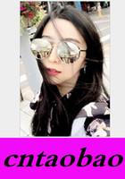 achat en gros de lunettes à montures en métal rose-Miroir Vintage Lunettes de Soleil Nouveautés Femme Marque Designer UV400 Ombres Hommes Golden Eye Femmes Outdoor Lunettes roses de soleil Cadre en métal