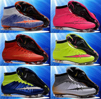 Wholesale 2016 newest kids soccer shoes high top soccer boots high quality botas de futbol superflys ag boys soccer cleats girls womens football shoes
