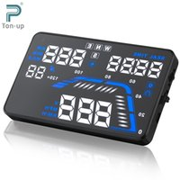 Wholesale Universal Q7 quot Auto Car HUD GPS Head Up Display Speedometers Overspeed Warning Dashboard Windshield Project