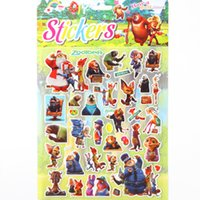 Wholesale 2016 NEW Zootopia Judy Nick Sticker D Cartoon party Decorative book Stickers paper game Children gift toys