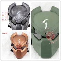 airsoft tactical helmets - Aline Predator Hunter Halloween Easter Party Mask W Infrared Light Tactical Airsoft Mask Cosplay Movie Prop DC helmet mask