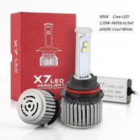 achat en gros de croisement salut-Nouvelle voiture LED 9004 Lumière LED 12V 120W Blanc 6000K 9600Lm Ampoule LED Hi / Low faisceau étanche Ventilateur de refroidissement Universal LED Lampe