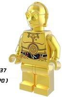 PG637 Avengers Single Vente Star Wars C3PO Chrom Bâtiments d'or Super Heroes Action Modèle Chiffres enfants Jouets Cadeau