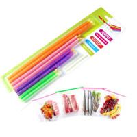 Clips de bolsas España-Alimentos Sealing Clip Sticks Plástico Snack Seal Sello Bolsa Clips Sealer Clamp Inicio Almacenamiento De Alimentos Organizador Stick ZA1297
