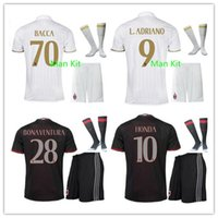 Wholesale Top Quality AC Milan soccer jerseys Uniforms BACCA KAKA home red away white BONAVENTURA HONDA AC Milan football shirts