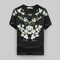 Wholesale Tshirt Homme Men Kanye West T Shirt Brand Clothing Summer Style Floral D Quality Cotton T shirt Gvc Tee Shirts