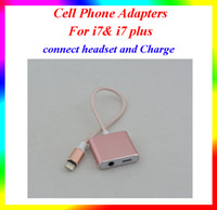 Wholesale 5pcs sell Iphone iphone plus Earphone Adapter Data Adapter Cords connect the headset and Charge the lighting cm Cable