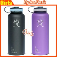 Wholesale Hydro Flask Cups Insulated Stainless Steel Hydro Flask Water Bottle Wide Mouth Water Bottle Hydro flask Mug oz oz Drop shipping