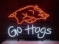 arkansas university - NEW UNIVERSITY OF ARKANSAS RAZORBACKS GO HOGS SIZE quot X17 quot GLASS NEON SIGN LIGHT BEER BAR PUB SIGN ARTS CRAFTS GIFTS SIGNS