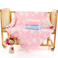 Wholesale Kids Summer Thin Towel Quilt Soft Sleeping Comforter Bedding Supplies Cartoon Printing Children Towel Blanket JA0159