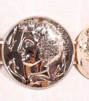 active coin - New Fashion Vintage Baroque Metal Head portrait Belts Women s Gold Coins Leather Waist Straps Casual Cummerbund