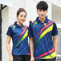 Wholesale Men Table Tennis Polo Shirts Beautiful Breathable Collision color Fashion Table Tennis Shirts BTF21