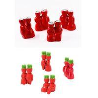 Wholesale Red Lover Green Grass Plant DIY Desktop Potting Plant Mini Ceramic Plant Relying on in Company in Missing in Love